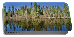 Portable Battery Charger featuring the photograph Ausable Reflections 1768 by Michael Peychich