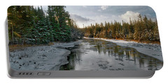 Ausable River 1282 Portable Battery Charger by Michael Peychich