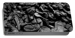 Auschwitz-birkenau Shoes Portable Battery Charger by RicardMN Photography