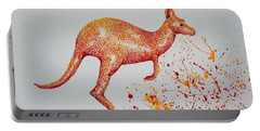 Aussie Roo Portable Battery Charger by Tamyra Crossley