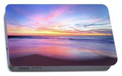 Portable Battery Charger featuring the photograph Aussie Sunset, Claytons Beach, Mindarie by Dave Catley