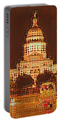 Austin Capitol At Night Portable Battery Charger