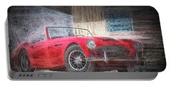 Austin Healey Chalk Study 4 Portable Battery Charger