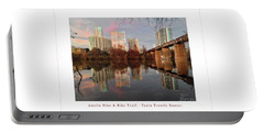Austin Hike And Bike Trail - Train Trestle 1 Sunset Left Greeting Card Poster - Over Lady Bird Lake Portable Battery Charger