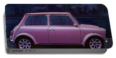 Austin Mini Cooper 1964 Painting Portable Battery Charger