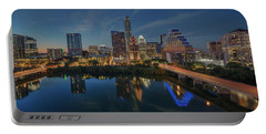 Austin Skyline At Night 7-4 Portable Battery Charger