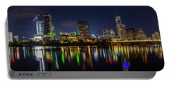 Austin Skyline At Night Portable Battery Charger