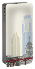 Austin Skyline Poster Portable Battery Charger