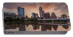 Austin Skyline Sunrise Reflection Portable Battery Charger