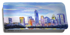 Austin Skyline Sunset Glow Portable Battery Charger