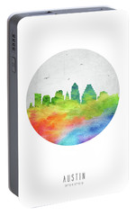 Austin Skyline Ustxau20 Portable Battery Charger by Aged Pixel