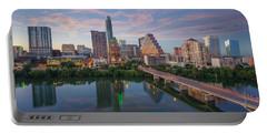 Austin Texas Evening Skyline 73 Portable Battery Charger