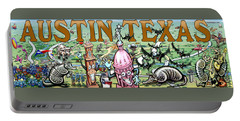 Austin Texas Fun Art Portable Battery Charger by Kevin Middleton