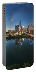 Austin Texas Skyline At Night 73 Portable Battery Charger