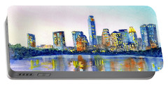 Austin Texas Skyline Portable Battery Charger by Carlin Blahnik