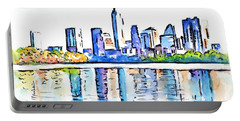 Austin Texas Skyline Lady Bird Lake Portable Battery Charger