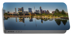 Austin Texas Skyline Panorama Before Sunrise 1 Portable Battery Charger