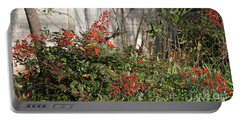 Portable Battery Charger featuring the photograph Austin Winter Berries by Linda Phelps