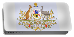 Portable Battery Charger featuring the drawing Australia Coat Of Arms by Movie Poster Prints