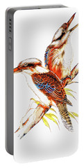Portable Battery Charger featuring the photograph Australian Kookaburra 666 by Kevin Chippindall