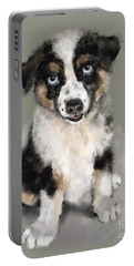 Australian Shepherd Pup Portable Battery Charger