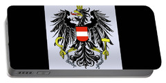 Portable Battery Charger featuring the drawing Austria Coat Of Arms by Movie Poster Prints