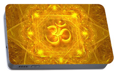 Portable Battery Charger featuring the digital art Authentic Om  by Alexa Szlavics