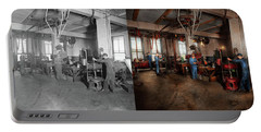 Portable Battery Charger featuring the photograph Autobody - The Bodyshop 1916 - Side By Side by Mike Savad