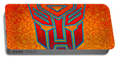 Autobot Cracked Portable Battery Charger by Justin Moore