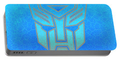 Portable Battery Charger featuring the digital art Autobot Scales by Justin Moore