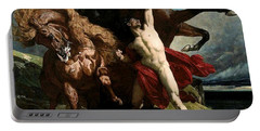 Automedon With The Horses Of Achilles Portable Battery Charger