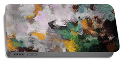 Portable Battery Charger featuring the painting Autumn Abstract Painting by Ayse Deniz