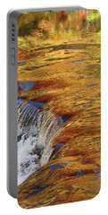 Autumn Abstract Portrait Portable Battery Charger