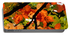 Autumn Ablaze Portable Battery Charger