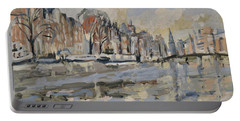 Autumn Along The Amstel In Amsterdam Portable Battery Charger