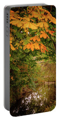 Portable Battery Charger featuring the photograph Autumn Along The Bog Burn by RKAB Works
