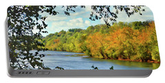 Autumn Along The New River - Bisset Park - Radford Virginia Portable Battery Charger