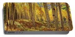 Autumn Aspen Forest Aspen Colorado Panorama Portable Battery Charger