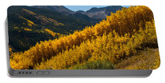 Portable Battery Charger featuring the photograph Autumn Aspen Near Castle Creek by Cascade Colors