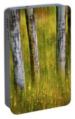 Portable Battery Charger featuring the photograph Autumn Aspen Recollections by John De Bord