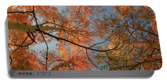 Autumn Aspens In The Sky Portable Battery Charger