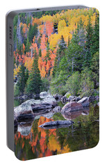 Portable Battery Charger featuring the photograph Autumn At Bear Lake by David Chandler