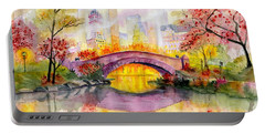 Autumn At Gapstow Bridge Central Park Portable Battery Charger