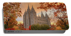 Autumn At Temple Square Portable Battery Charger