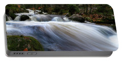 Portable Battery Charger featuring the photograph Autumn At The Bode, Harz by Andreas Levi