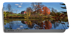 Autumn At The Farm Portable Battery Charger by Tricia Marchlik