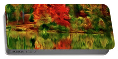 Autumn At The Lake-artistic Portable Battery Charger