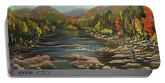 Autumn At The Pemi From Thornton New Hampshire Portable Battery Charger