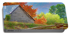 Autumn Barn Digital Watercolor Portable Battery Charger
