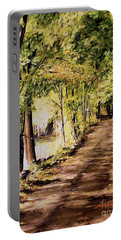Autumn Begins In Underhill Portable Battery Charger by Laurie Rohner